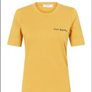Frame Cotton Extended Cuff Marigold T-Shirt Large